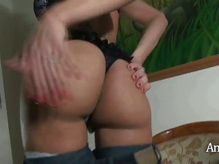 Angeles Cid Stroking In A Chair
