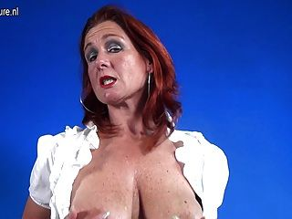 Damn Hot Old Redhead Mother Getting Very Frisky