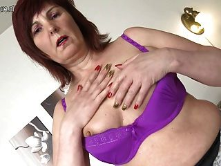 Sexy Grandmother Plays With Her Favorite Toys