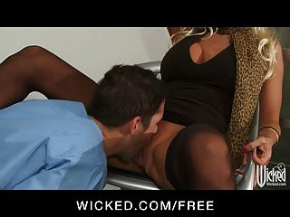 Wicked - Curvy Blond Milf Brittany Andrew Fucks Veterinarian