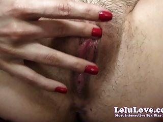 Lelu Love-hairy Pussy Closeup Fingering