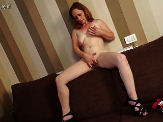 Horny Housewife Getting Wet On Her Couch
