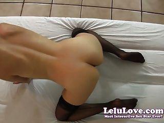 Lelu Love-black Stockings Jerkoff Encouragement
