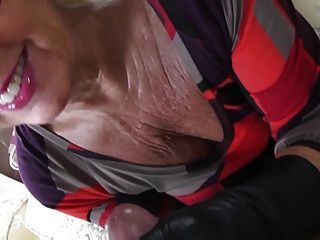 Very Soft Leather Gloved Blowjob Gilf