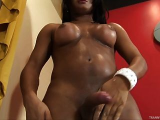 Hot Latina Tranny Shows The Goods