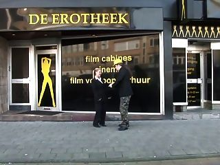 Fucking The Woman Owner Of Erotheek Adult Theatre Schiedam