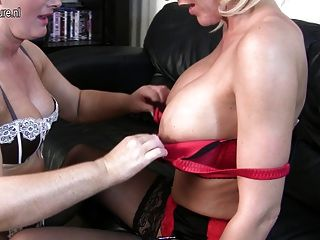Hot Busty Mother Fucks Another Mature Mother