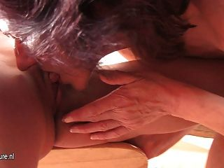 Mature Mom-next-door Fucks Hot Young Girl