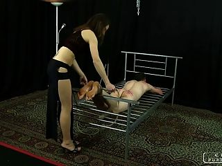Lady Ann - Caning, Bastinado, Face Slapping, Foot Worship