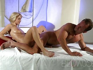 Blowjob Stunning Blonde G-spot Orgasm Before Cum In Mout