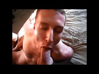Great Cocksucker Taking Two Nice Big Cocks And Cum