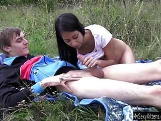 Paula being serviced while hubby eats her and film it 10