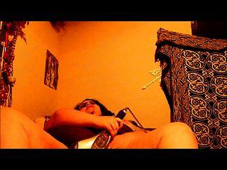 Masturbating With A Vibrator, Goth Bbw