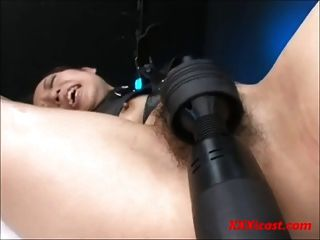 Hairy Asian Made To Orgasm