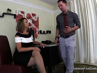 Creative Interview Technique - Footjob Foot Fetish