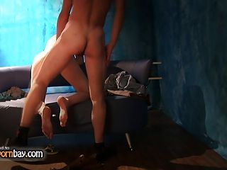 Amateur Couple Fucking On Sofa 2