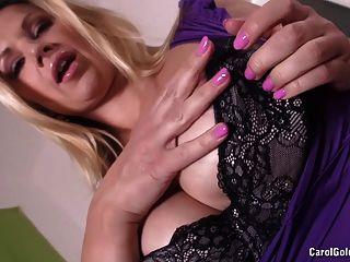 Carol Goldnerova Fucks Her Pink Pussy