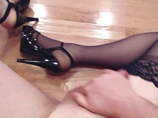 Stroking My Cock And Cum On My Stockings