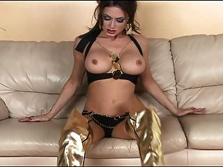Tease And Masturbation In Shiny Thigh High Boots