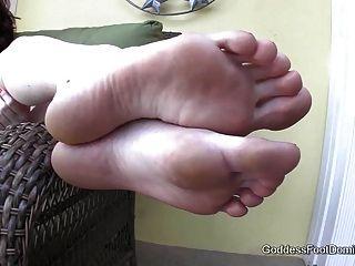 Poolside Foot Bath Pov - Foot Fetish Foot Worship