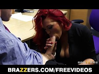 Bust Redhead Secretary Is Slammed By A Big-dick