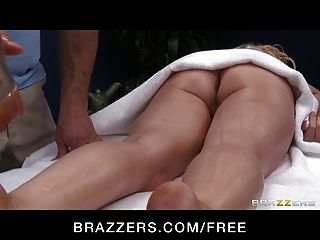Brazzers - Blonde Bombshell Candy Manson Oiled Up And Fucked