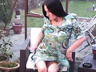 Smoking British Mature Mother Needs Young Cock