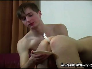 Four Boys Fun With Anal Toys And Candles