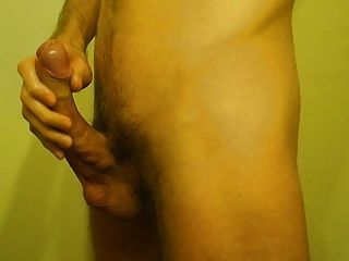 Cruel Skinny Foreskin Jerk-off With Very Huge Load