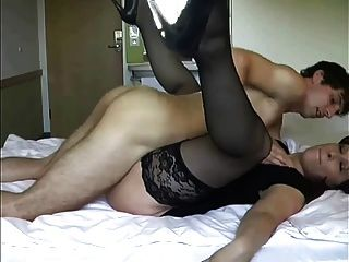 Mature Lady In Stockings Takes His Virginity