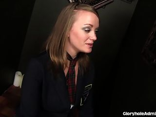 Catholic Schoolgirl Tricked Into Sucking Cock