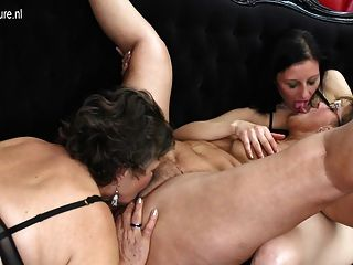 Lesbian Group Sex With Grannies Moms And Young Girls
