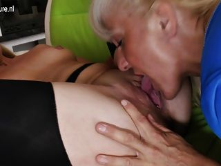 Lesbian 4some With Granny Moms And Young Girls