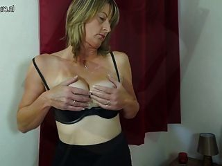 Hairy British Mom Playing With Her Pussy