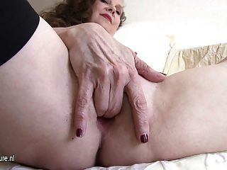 Hot Real Granny With Old Hungry Vagina