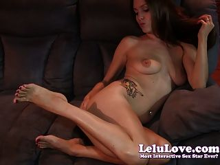 Lelu Love-red Toenails Feet Jerkoff Encouragement
