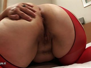 Phat Ass White Mother Fucked With Dildo