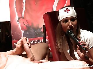 Hot Stripper Nurse Sucking A Large Dick