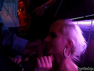Blonde Party Chick Gets Fucked In Club