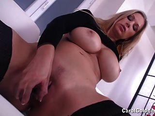 Busty Carol Fucks Her Wet Cunt