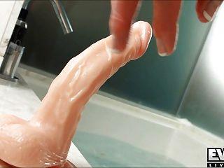 Eva Lin Tranny In The Tub!