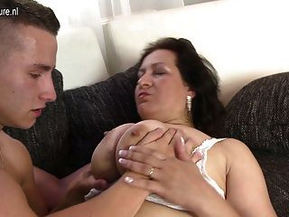 Busty Mom On Young Boy