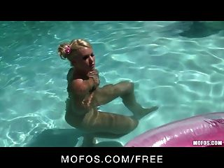 Mofos -sexy Blond With Perfect Ass Strips Down & Masturbates