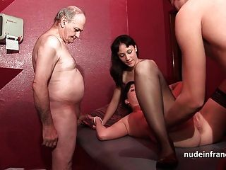 French Hotties Banged In A Club