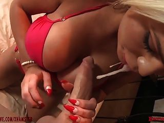 Bigtit Blonde Slut Takes A Big Cock