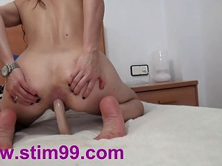 Anal Fucking With 2 Dildos One After Another