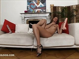 Hot Babe Strips And Fucks A Brutal Dildo In Hd