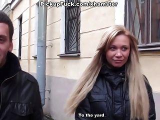 Blonde Sucks In The Porch
