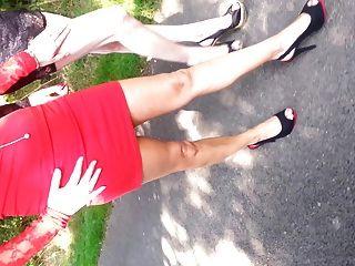 Slut Tranny And Hot Milf Walking