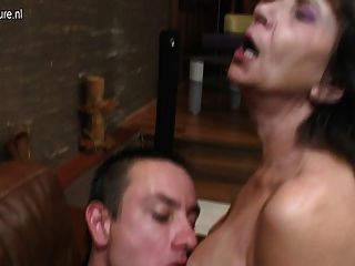 Mature Mother Fucking Her Way Younger Boy